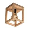 Picture of KAGO A SOFFITTO- quadrato - 1X ATTACCO E27 - NERO