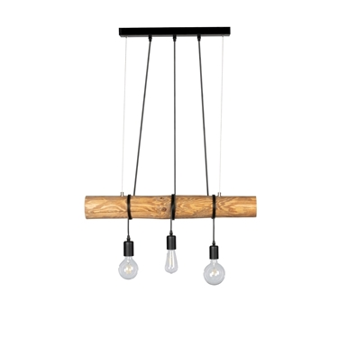 Picture of TRABO SHORT - LAMPADINA - 3XE27 -  Brown/Black
