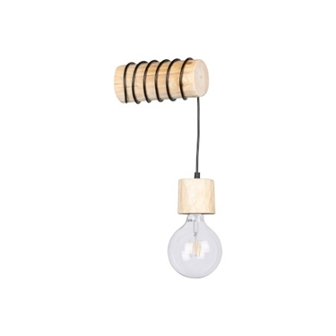 Immagine di TRABO PINO - A PARETE - LAMPADINA -  NATURAL WOOD/Black