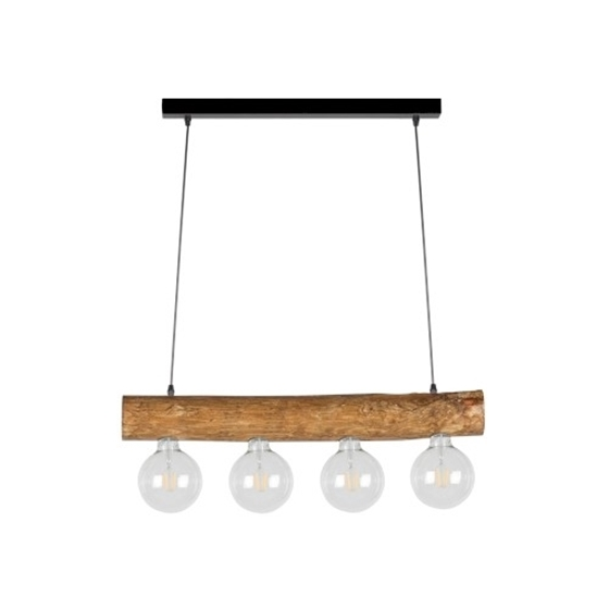 Picture of TRABO SIMPLE - SOSPENSIONE - 4XE27 -   Black/stained pine