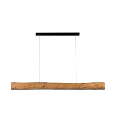 Immagine di LUCAS - SOSPENSIONE DA INTERNO A LED - BLACK/STAINED PINE - 1150MM