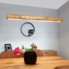 Picture of LUCAS - SOSPENSIONE DA INTERNO A LED - BLACK/STAINED PINE - 1150MM