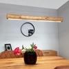 Immagine di LUCAS - SOSPENSIONE DA INTERNO A LED - BLACK/NATURAL PINE - 900MM