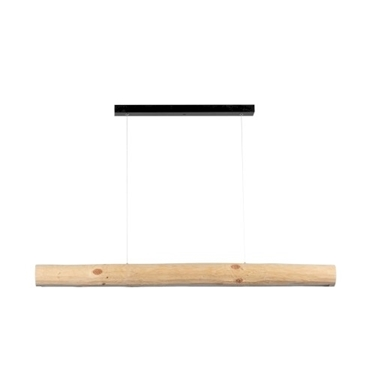 Picture of LUCAS - SOSPENSIONE DA INTERNO A LED - BLACK/NATURAL PINE - 1150MM