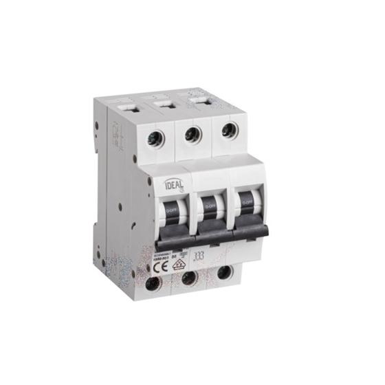 Picture of Interruttore magnetotermicodifferenziale 3P KMB6 - B/3 -  MODULI 3