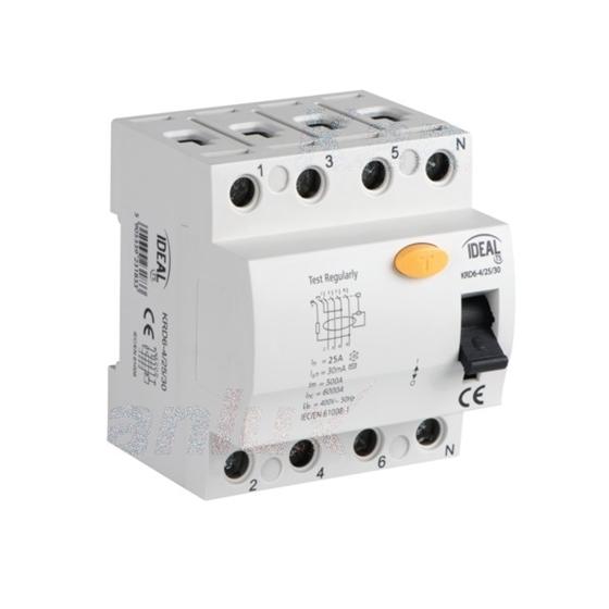 Picture of Interruttore differenziale, 4P KRD6-4 -  Tipo di protezione differenziale AC