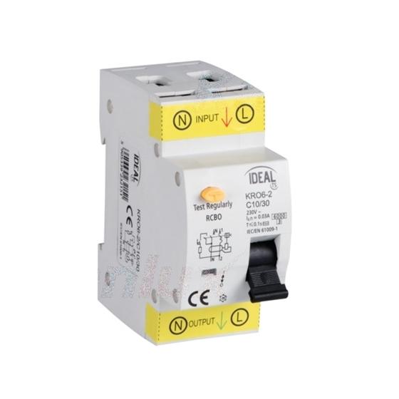 Immagine di Interruttore magnetotermicodifferenziale  KRO6-2 -  Tipo di protezione differenziale AC - PROPRIETA' DI RILASCIO : C