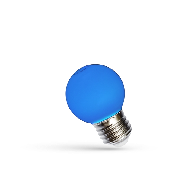 Picture of LED BALL 1W E-27 - BLU