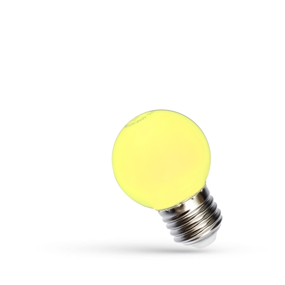 Picture of LED BALL 1W E-27 - GIALLA