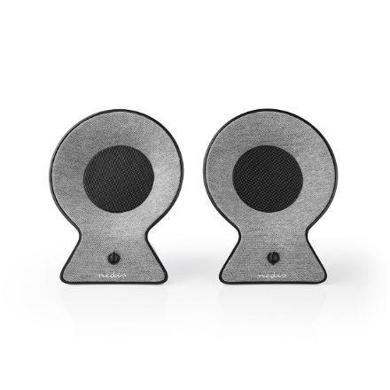 Immagine di Altoparlante Bluetooth® in Tessuto   2 x 15 W   Fino a 4 Ore di Riproduzione   TWS (True Wireless Stereo)   Grigio/Nero
