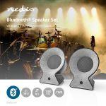 Immagine di Altoparlante Bluetooth® in Tessuto   2 x 15 W   Fino a 4 Ore di Riproduzione   TWS (True Wireless Stereo)   ANTRACITE/NERO