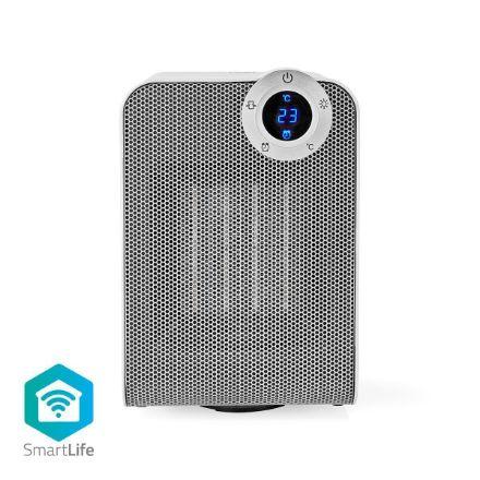 Immagine di SmartLife Riscaldamento ad aria  Wi-Fi | Compatto | 1800 W | 3 Impostazioni di Calore | Oscillazione | Schermo | 15 - 35 °C | Android™ / IOS | Bianco