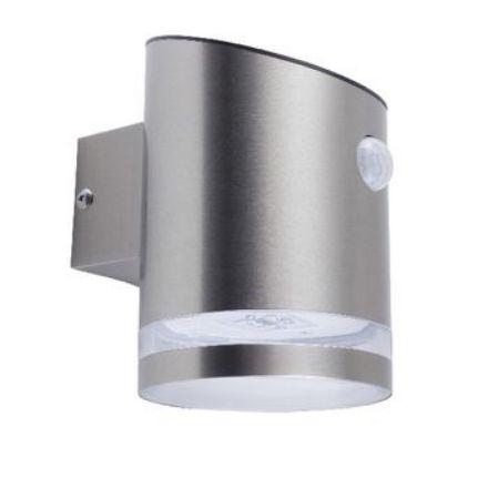Immagine di Luce Solare da Parete LED Argento - 2W - CON SENSORE