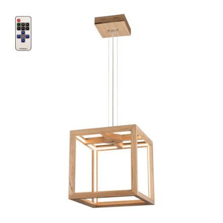 Immagine di KAGO LED SOSPENSIONE - quadrata con telecomando   - illuminazione con striscia - 37x37