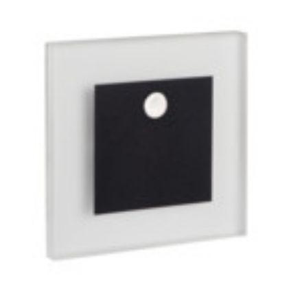 Immagine di APUS LED PIR - 0,8W - NERO - SEGNAPASSO DA INTERNO CON SENSORE DI MOVIMENTO - 12DC