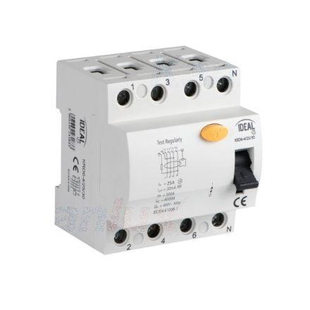 Immagine di Interruttore differenziale, 4P KRD6-4 -  Tipo di protezione differenziale AC