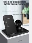 Immagine di Caricabatterie wireless XO WX018 3in1 nero 15W