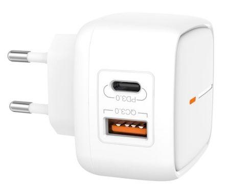 Immagine di Caricatore da muro XO L60 bianco 2USB QC 3.0 / PD USB-C