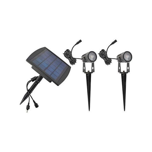 Immagine di KIT LED SPIKE 2X1W PANNELLO SOLARE LED SPIKE - 2X100 LM - 400K - 40°