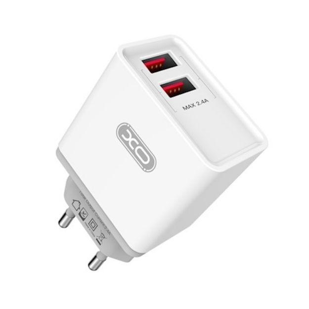 Immagine di Caricatore da muro - XO Wall charger L31 white 2USB 2,4A