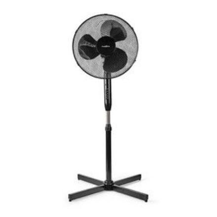Immagine di Ventilatore a piantana  Diametro: 400 mm   3-Velocità   Oscillazione   40 W   Altezza regolabile   Timer di spegnimento   Telecomando   Nero