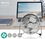 Immagine di Ventilatore da tavolo  Alimentazione a USB | Diametro: 10 cm | 3 W | 1-Velocità | Cromo