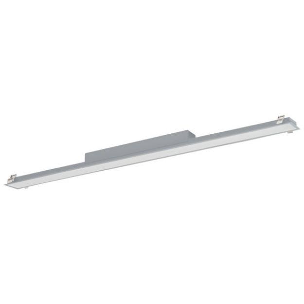 Immagine di Plafoniera led lineare ALIN LED DALI 50W 1710mm PT - ARGENTO - 830/840-MAT - 4600/4800lm - VETRINO OPACO -  Angolo di illuminazione [°] X85/Y95