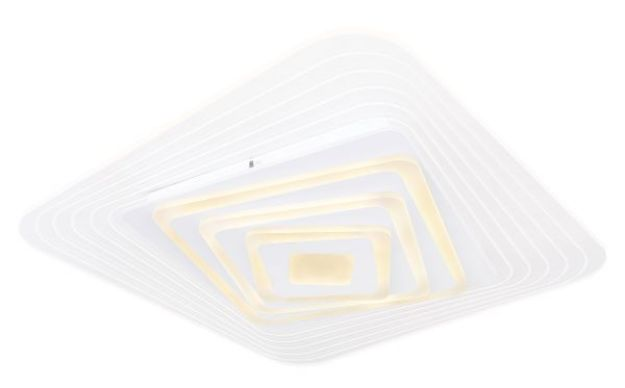 Immagine di Plafoniera metallo bianco, 1xLED - QUADRATA