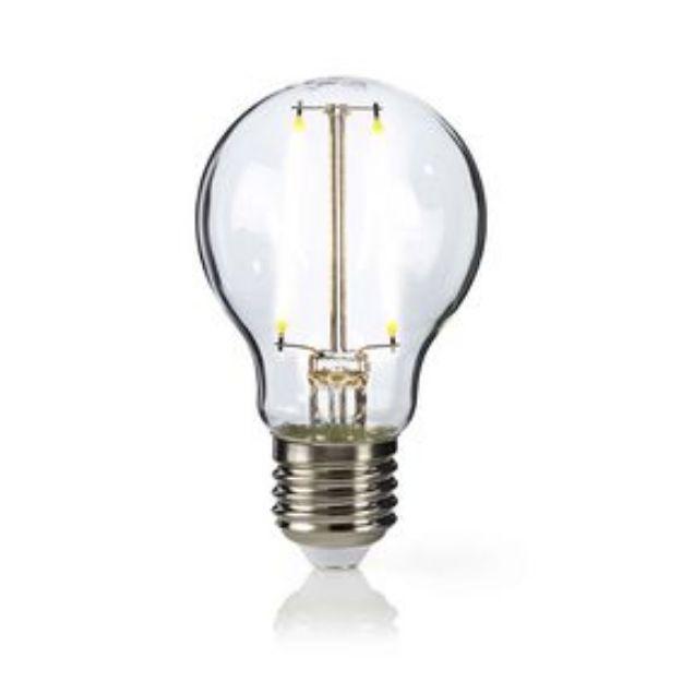 Immagine di Lampadina a filamento LED E27 - VETRO TRASPARENTE - 2700K 4,6W/40W