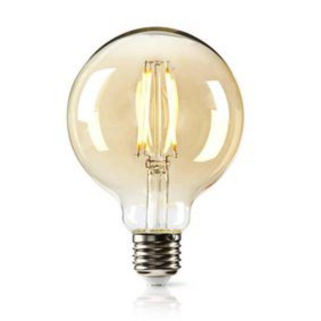 Immagine di Lampadina a filamento LED E27 - 1,9W/21W - 2000K - IN VETRO TRASPARENTE -G95 - MODELLO RETRO'