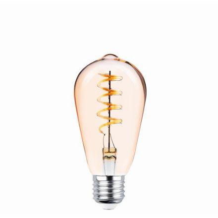Immagine di LED Bulb Filament E27 ST64 4W 230V 2000K 250lm