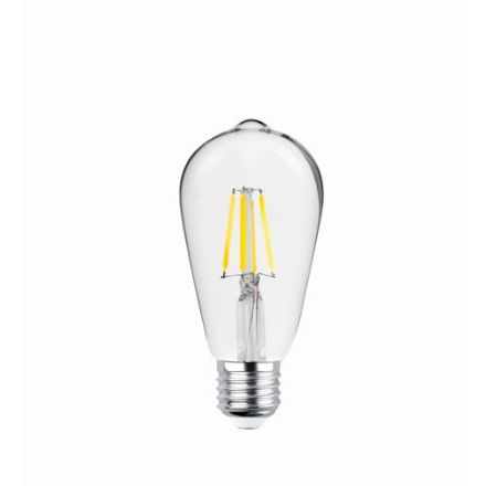 Immagine di LED Bulb Filament E27 ST64 4W 230V 2700K 470lm COG