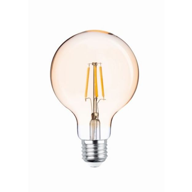 Immagine di LED Bulb Filament E27 G95 4W 230V 2200K 400lm COG