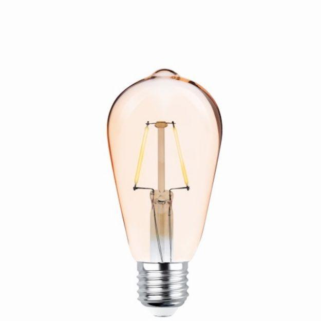 Immagine di LED Bulb Filament E27 ST64 4W 230V 2200K 400lm COG