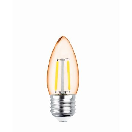 Immagine di LED Bulb Filament E27 C35 2W 230V 2200K 180lm COG