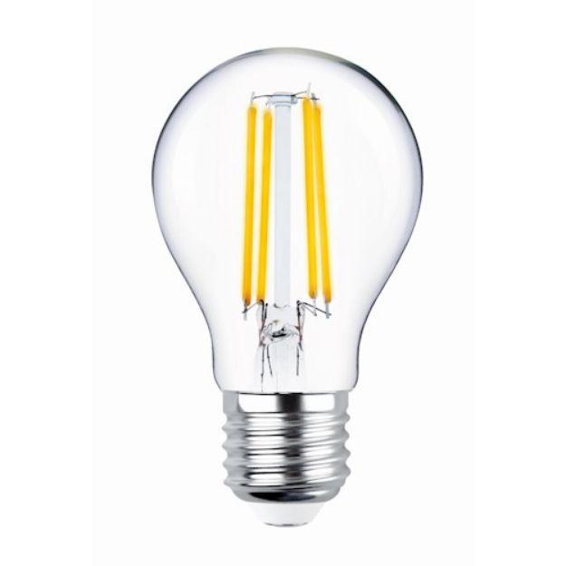 Immagine di LED Bulb Filament E27 A60 4W 230V 2700K 470lm COG - VETRO TRASPARENTE
