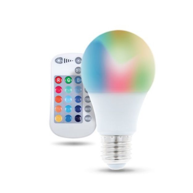 Immagine di Lampadina LED E27 A60 RGB + Bianco - 9W + TELECOMANDO
