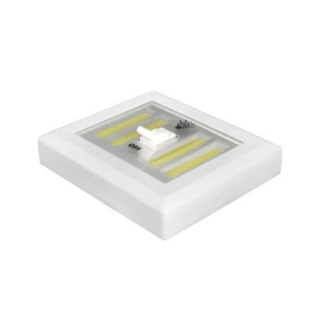 Immagine di Lampada da parete LTC con interruttore LED COB batteria + magnete