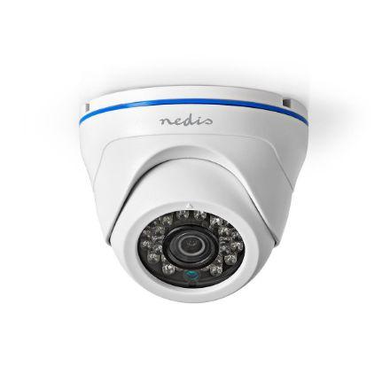 Immagine di Videocamera di sicurezza CCTV  Full HD 1080p   Visione notturna: 20 m   Alimentazione da rete   CMOS   Angolo di osservazione: 80 °   Tecnologia della lampada: 3.6 mm   ABS +   Bianco / Nero - IP20