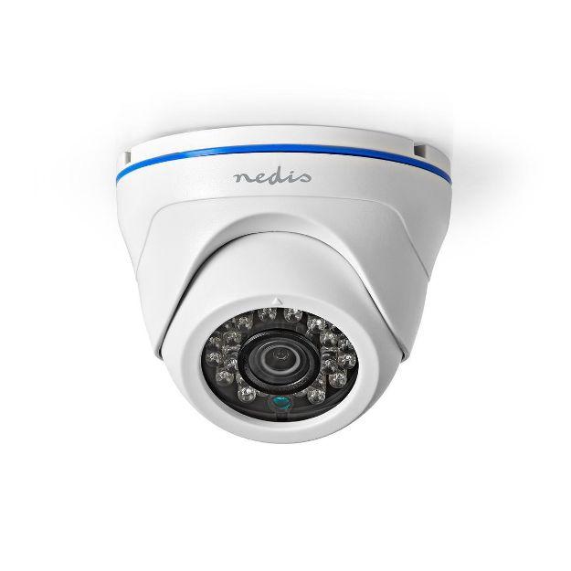 Immagine di Videocamera di sicurezza CCTV  Full HD 1080p | Visione notturna: 20 m | Alimentazione da rete | CMOS | Angolo di osservazione: 80 ° | Tecnologia della lampada: 3.6 mm | ABS + | Bianco / Nero - IP20