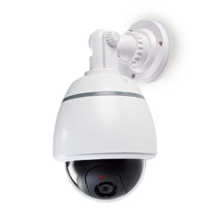 Immagine di Videocamera di sicurezza fittizia  Cupola   Alimentazione a batteria   Interno   Bianco