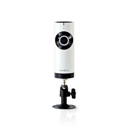 Immagine di Telecamera IP WiFi  HD 720p | Visione notturna: 5 m | Alimentazione da rete | Angolo di osservazione: 180 ° | Incluso supporto a parete | ABS | Bianco / Nero
