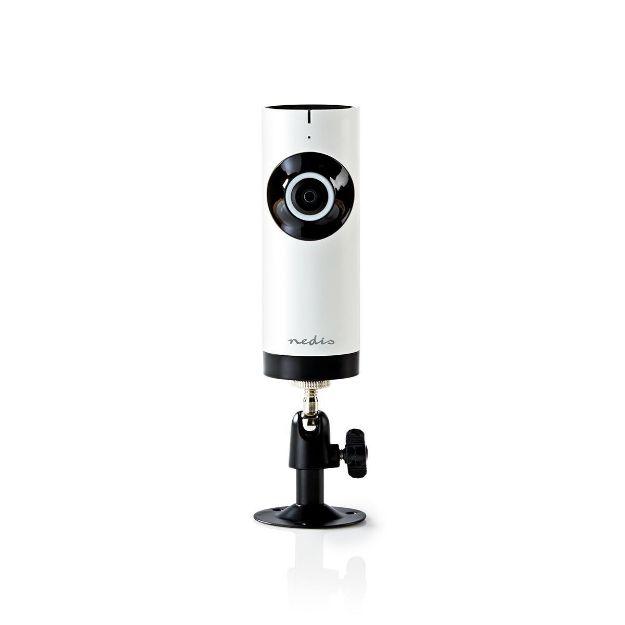 Immagine di Telecamera IP WiFi  HD 720p   Visione notturna: 5 m   Alimentazione da rete   Angolo di osservazione: 180 °   Incluso supporto a parete   ABS   Bianco / Nero