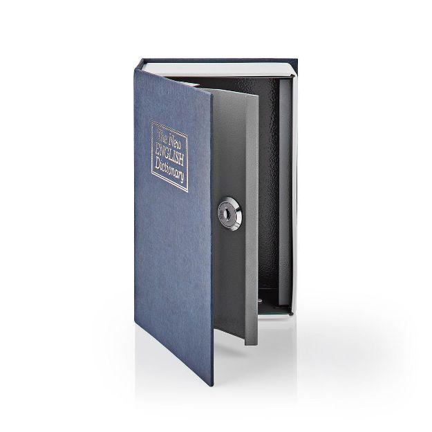 Immagine di LIBRO Cassette di Sicurezza    Blocco tasti     2 chiavi incluse   Argento / Blu