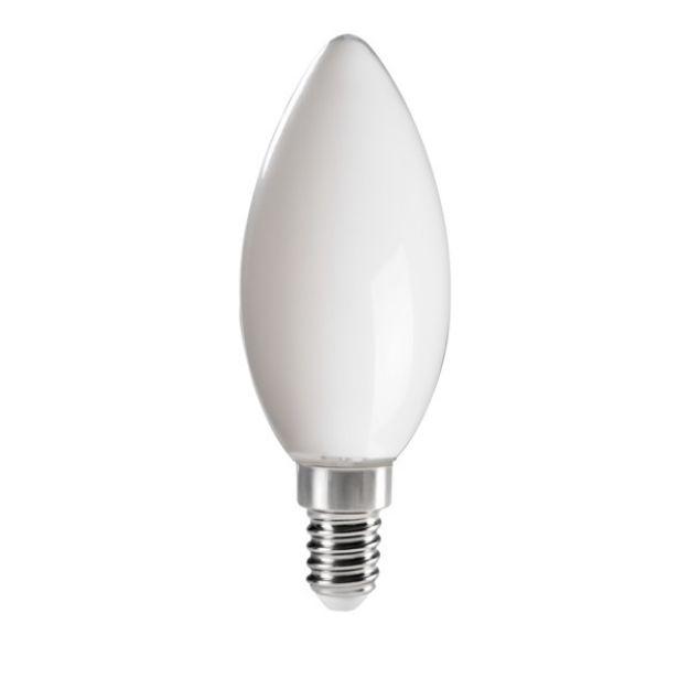 Immagine di XLED C35 M  E14 - 6W - LAMPADA A FILAMENTO A LED CON VETRO BIANCO - copia