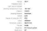 Immagine di CHLOE GU10 TRACK su binario CON sorgente luminosa sostituibile GU10 - ORIENTABILE  - IP20 - 95*123 - NERO