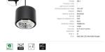 Immagine di CHLOE AR111 GU10 TRACK su binario CON sorgente luminosa sostituibile GU10 - IP20 - 120*85 - NERO