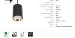 Immagine di CHLOE MINI GU10 TRACK  su binario CON sorgente luminosa sostituibile GU10 - IP20 - 70*100 - BIANCO/ORO