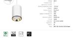 Immagine di CHLOE MINI GU10 TRACK  su binario CON sorgente luminosa sostituibile GU10 - IP20 - 70*100 - NERO/ORO