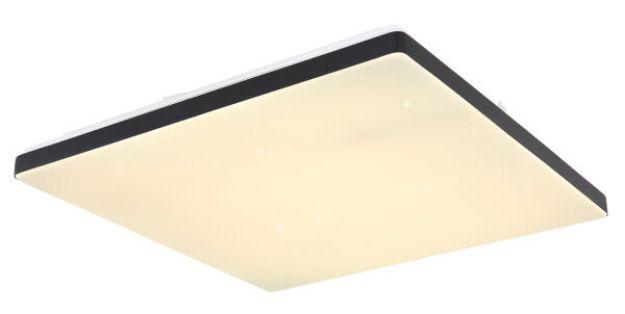 Immagine di ULLY - PLAFONIERA A SOFFITTO LED CON TELECOMANDO - 2700*4000*6000K - 48,5*48,5*6 CM  - 24W - SMART LIGHT - BORDO NERO
